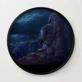 Blue Seasore Wall Clock