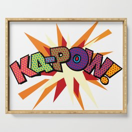 Comic Book Pop Art Sans KA-POW Serving Tray