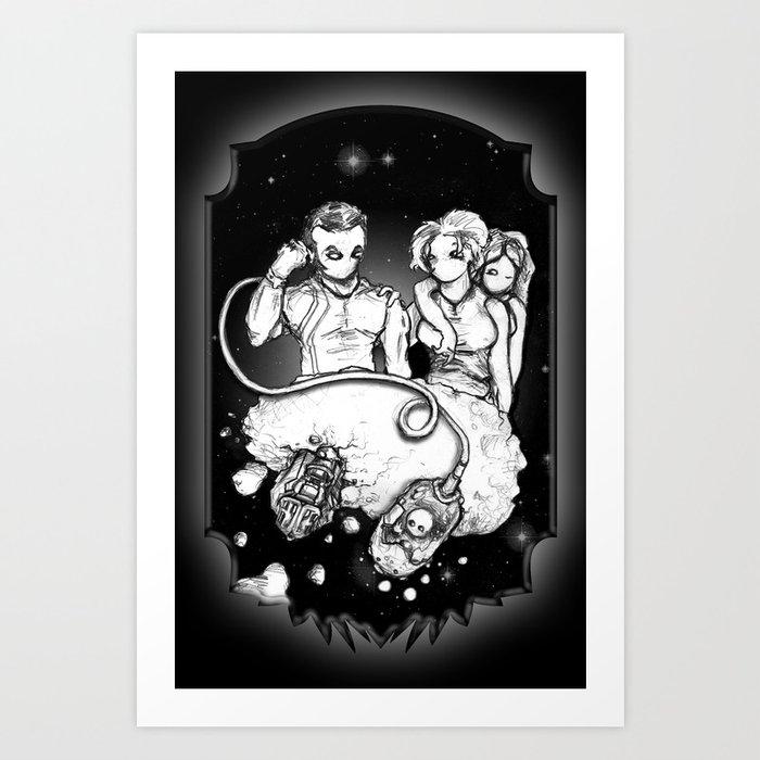 Party at the Phaedrus 5 Galleria - Illustration Art Print