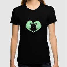 Hug SMALL Black Womens Fitted Tee