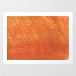 Sunny orange cloud Art Print