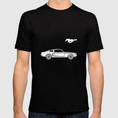 Ford Mustang Fastback (1968) Mens Fitted Tee Black LARGE