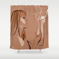 ursula Shower Curtains featuring Ursula by Elena Medero