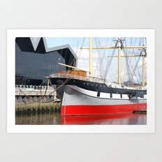 Riverside Museum Glasgow and the SV Glenlee  Art Print