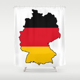 Germany Map with German Flag Shower Curtain