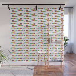 colourful worms for children Wall Mural