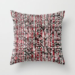 Linear Thinking Trip Switch (P/D3 Glitch Collage Studies) Throw Pillow