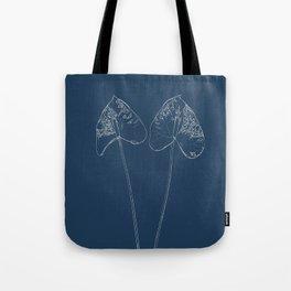 Painter's Palette Blueprint Tote Bag