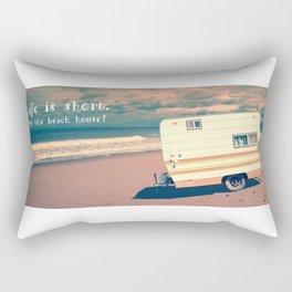 Life is short Buy the Beach House Rectangular Pillow