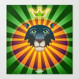 Neon Lion Canvas Print