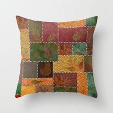 Stitches Of Autumn Throw Pillow