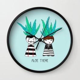 Aloe There Wall Clock