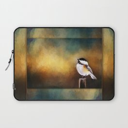 Chickadee in Morning Prayer Laptop Sleeve