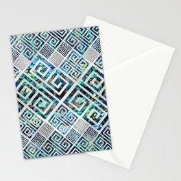 Greek Meander Pattern - Greek Key Ornament Stationery Cards