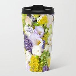 Bridal freesia bouquet wedding flowers Travel Mug