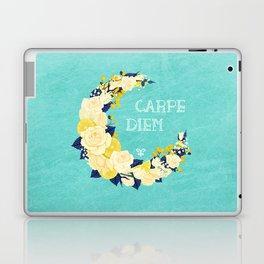 Crescent Bloom | White roses and lemons Laptop & iPad Skin