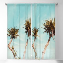 Palm Trees Print Blackout Curtain