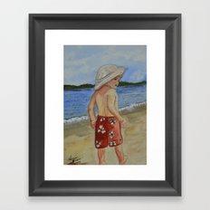 Beach Boy Framed Art Print