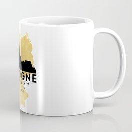 COLOGNE GERMANY SILHOUETTE SKYLINE MAP ART Coffee Mug