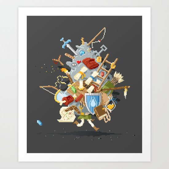 It's Dangerous to go alone, Take This. Art Print