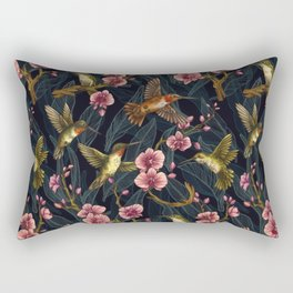 Hummingbird Pattern Rectangular Pillow