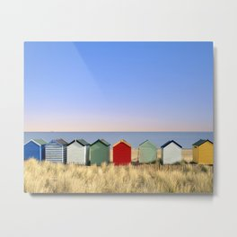 Beach Huts at Southwold (Suffolk/Great Britain) Metal Print