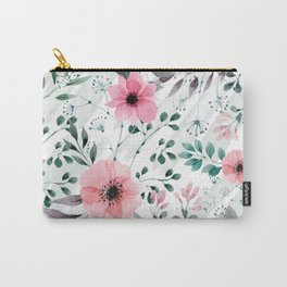 Illustration watercolor flowers and plants Carry-All Pouch