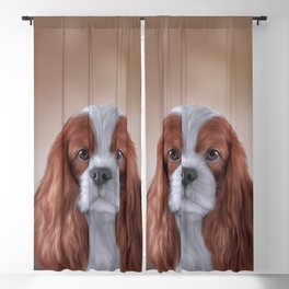 Drawing Cavalier King Charles Spaniel Blackout Curtain