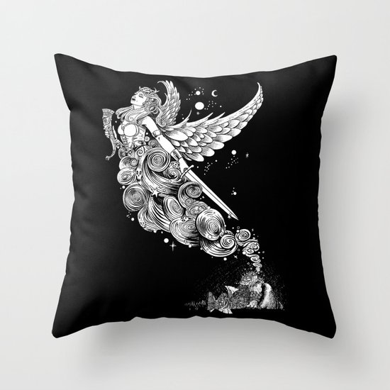 The Night Before the Battle Throw Pillow