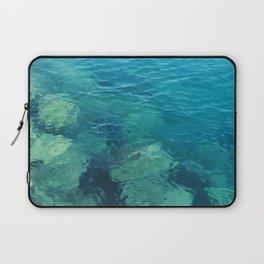 Beau Aqua Laptop Sleeve