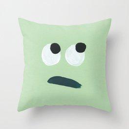 Eyeroll Painted Face Throw Pillow
