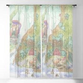 The Wind in the Willows Sheer Curtain