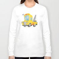 truck Long Sleeve T-shirts featuring tow truck by Alapapaju