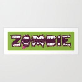 Zombie bites Art Print
