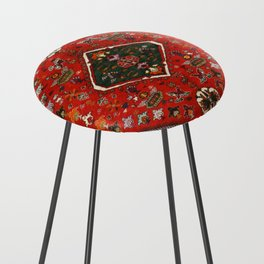 N65 - Colored Floral Traditional Boho Moroccan Style Artwork Counter Stool