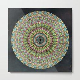 Dreamy Psychedelic Mandala Kaleidoscope Metal Print