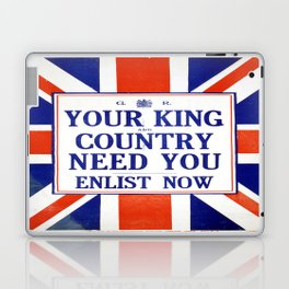 Vintage poster - Your King and Country Need You Laptop & iPad Skin