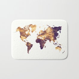 world map 129 #worldmap #map Bath Mat