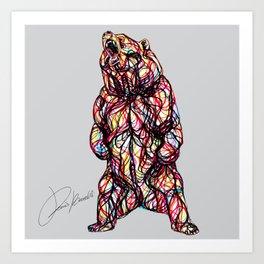 bear roar - ruggito orso - ours rugissant Art Print