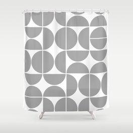 Mid Century Modern Geometric 04 Grey Shower Curtain