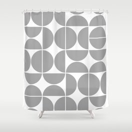 Mid Century Modern Geometric 04 Grey Shower Curtain
