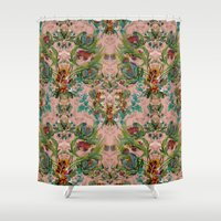 flora Shower Curtains featuring Flora by Julia Bianchi