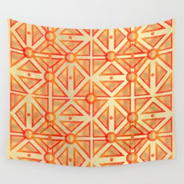 Geometric Goldness Wall Tapestry