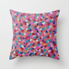 Pink Spun Sugar Throw Pillow