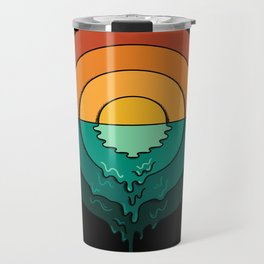 Circles Landscape Travel Mug