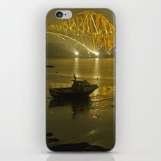 Forth Road Bridge, at night iPhone Skin