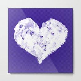 Feel in Watercolour: Violet Metal Print