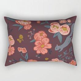 Floral Squirrel Rectangular Pillow