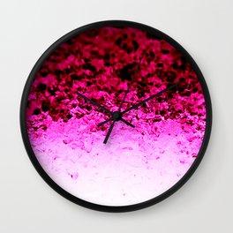 Magenta Fuchsia Pink Ombre Crystals Wall Clock