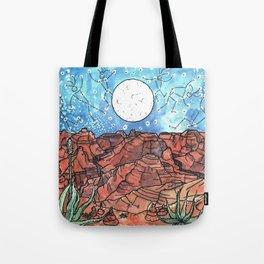 Starry Desert Dance Tote Bag